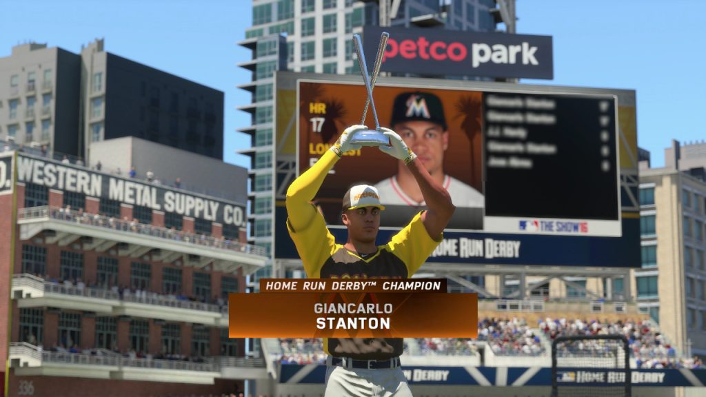 Giancarlo Stanton MLB The Show 16 Home Run Derby Champion