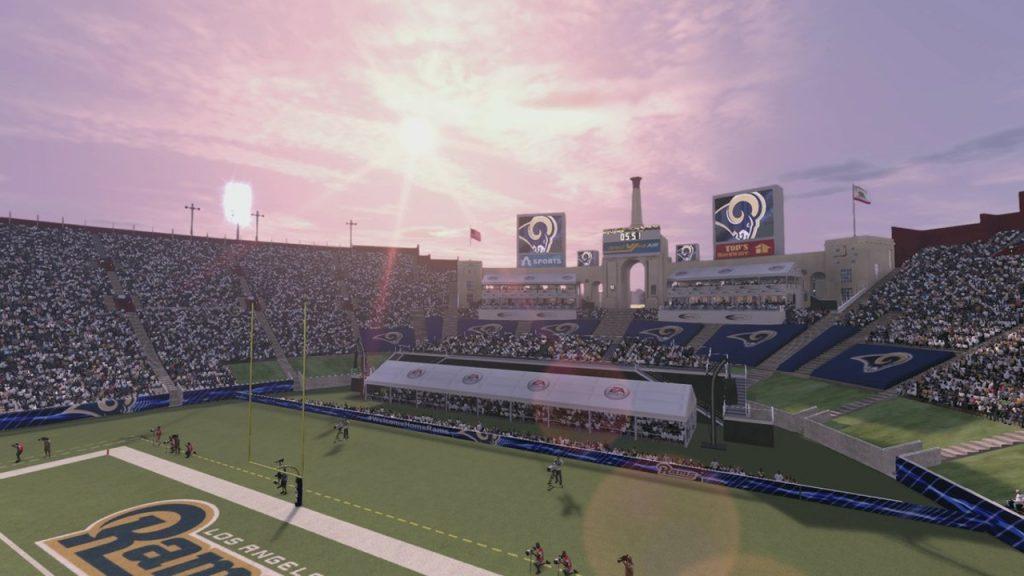 Madden NFL 17 LA Coliseum